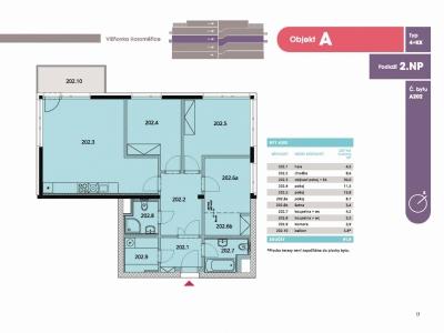 Byt 4+kk, 97,30 m2, Horoměřice, Projekt Višnovka - bytové domy