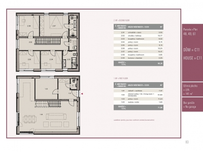 Dům 6+kk, 141,00 m2, Přezletice, Rodinné domy Panská pole