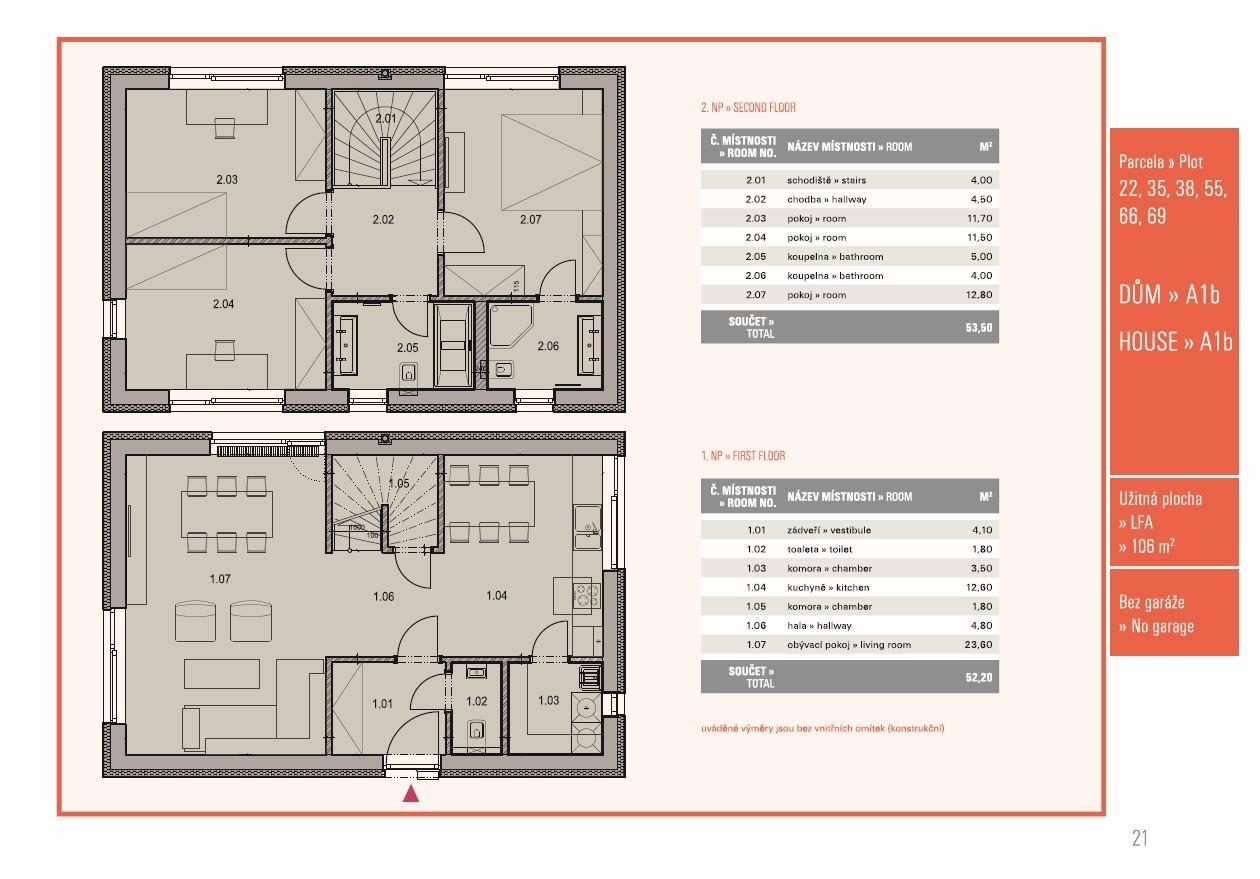 Dům 4+kk, 106,00 m2, Přezletice, Rodinné domy Panská pole