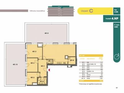 Byt 4+kk, 114.20 m2, Horoměřice, Projekt Višnovka - bytové domy