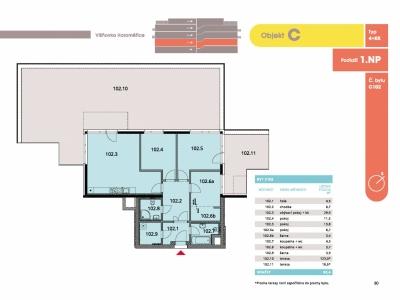 Byt 4+kk, 97.90 m2, Horoměřice, Projekt Višnovka - bytové domy
