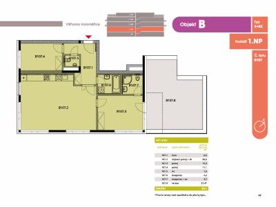 Byt 3+kk, 89 m2, Horoměřice, Projekt Višnovka - bytové domy
