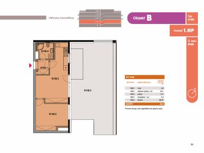 Byt 2+kk, 47.10 m2, Horoměřice, Projekt Višnovka - bytové domy