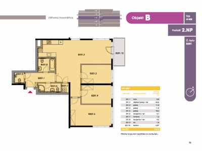 Byt 4+kk, 107.20 m2, Horoměřice, Projekt Višnovka - bytové domy