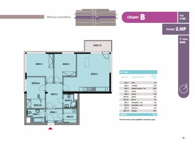 Byt 4+kk, 97.30 m2, Horoměřice, Projekt Višnovka - bytové domy