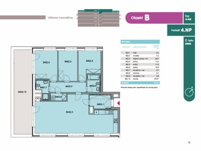 Byt 4+kk, 117.20 m2, Horoměřice, Projekt Višnovka - bytové domy