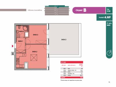 Byt 2+kk, 46.40 m2, Horoměřice, Projekt Višnovka - bytové domy