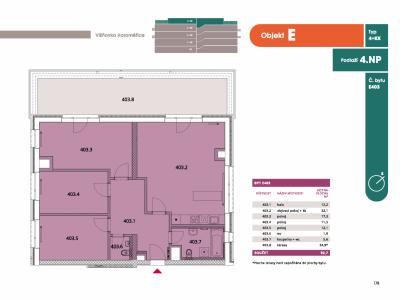 Byt 4+kk, 97.8 m2, Horoměřice, Projekt Višnovka - bytové domy