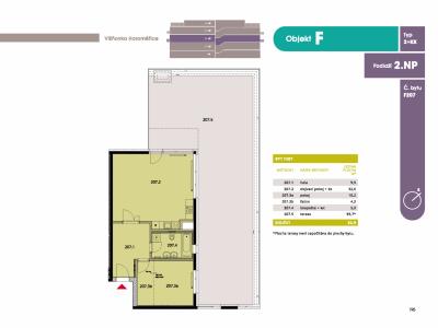 Byt 2+kk, 65.2 m2, Horoměřice, Projekt Višnovka - bytové domy